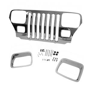Omix-ADA - Chrome Grille Overlay; 87-95 Jeep Wrangler YJ