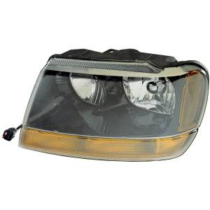 Omix-ADA - Left Headlight; 99-04 Jeep Grand Cherokee WJ