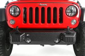 Rugged Ridge - Rugged Ridge XHD Front Bumper Base, Tow Point Covers (2007-15) Jeep Wrangler JK