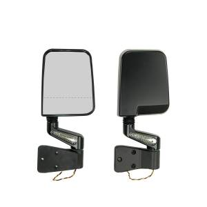 Rugged Ridge - Rugged Ridge Door Mirror Kit, LED Signal, Dual Focus, Black (1987-02) Jeep Wrangler