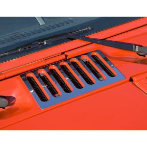 Rugged Ridge - Rugged Ridge Cowl Vent Cover, Stainless Steel (2007-15) Jeep Wrangler JK