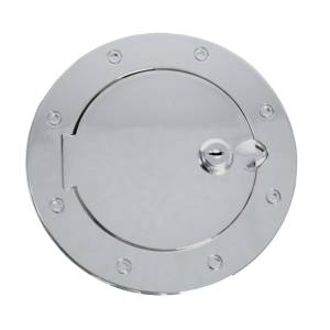 Rugged Ridge - Locking Gas Cap Door, Stainless Steel; 07-15 Jeep Wrangler JK