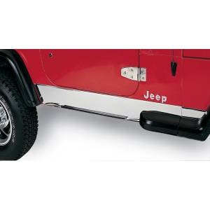Rugged Ridge - Rocker Panel Cover, Stainless Steel; 87-95 Jeep Wrangler YJ