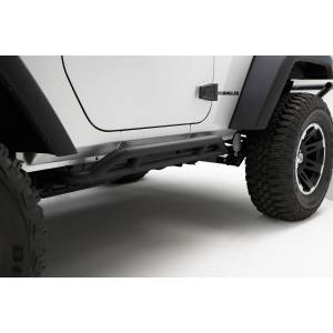 Rugged Ridge - RRC Rocker Guards, Black; 07-15 Jeep Wrangler JK