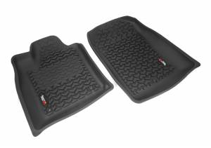 Rugged Ridge - Rugged Ridge Floor Liners, Front, Black (2011) Durango/Jeep Grand Cherokee WK