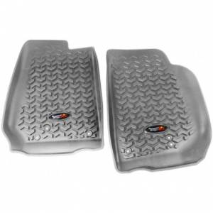 Rugged Ridge - Rugged Ridge Floor Liners, Front, Gray (2007-15) Jeep Wrangler/Unlimited JK
