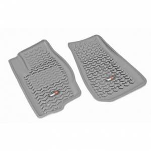 Rugged Ridge - Rugged Ridge Floor Liners, Front, Gray (2007-12) Caliber (2007-14) Jeep Compass/Patriot