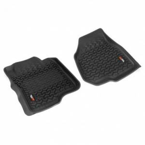 Rugged Ridge - Rugged Ridge Floor Liners, Front, Black (2011-12) Ford F-250/F-350 Reg/Ext/SuperCrew