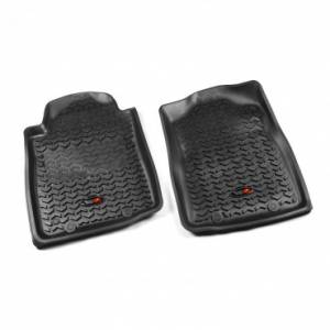 Rugged Ridge - Rugged Ridge Floor Liners, Front, Black (2012-15) Toyota Tacoma