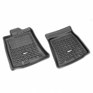 Rugged Ridge - Rugged Ridge Floor Liners, Front, Black (2012-14) Toyota FJ Cruiser