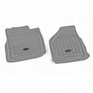 Rugged Ridge - Rugged Ridge Floor Liners, Front, Gray (2008-10) Ford F-250/F-350 Reg/Ext/SuperCrew