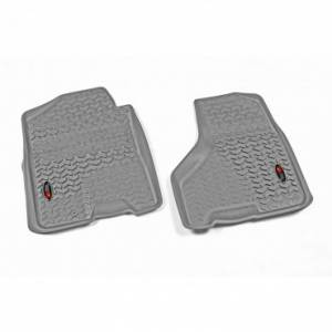 Rugged Ridge - Rugged Ridge Floor Liners, Front, Gray (2010-15) Ram Megacab (2012-15) Ram 1500/2500/3500
