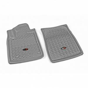 Rugged Ridge - Rugged Ridge Floor Liners, Front, Gray (2012-15) Toyota Tacoma