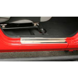 Rugged Ridge - Rugged Ridge Door Entry Guards, Stainless Steel (2007-15) Jeep Wrangler JK