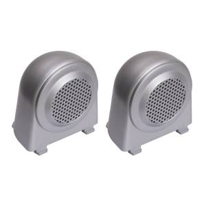 Rugged Ridge - Rugged Ridge Tweeter Speaker Enclosures, Brushed Silver (2007-10) Jeep Wrangler JK