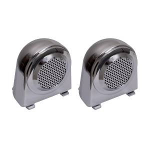 Rugged Ridge - Rugged Ridge Tweeter Speaker Enclosures, Chrome (2007-10) Jeep Wrangler JK