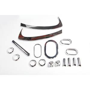 Rugged Ridge - Interior Trim Accent Kit, Chrome; 07-10 Jeep Wrangler JK