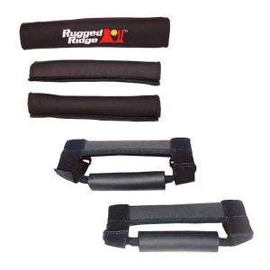 Rugged Ridge - Grab Handle Kit, Black; 97-06 Jeep Wrangler TJ/LJ