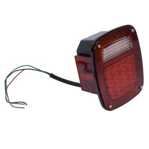 Rugged Ridge - LED Tail Light Assembly, Left Side; 76-06 Jeep CJ/Wrangler YJ/TJ