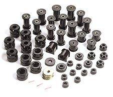 Rugged Ridge - Polyurethane Bushing Kit, Black; 87-95 Jeep Wrangler YJ