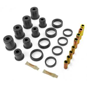 Rugged Ridge - Rugged Ridge Control Arm Bushing Kit, Front, Black (1993-98) Jeep Grand Cherokee ZJ