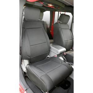 Rugged Ridge - Neoprene Front Seat Covers, Black; 07-10 Jeep Wrangler JK