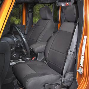 Rugged Ridge - Neoprene Front Seat Covers, Black; 11-15 Jeep Wrangler JK
