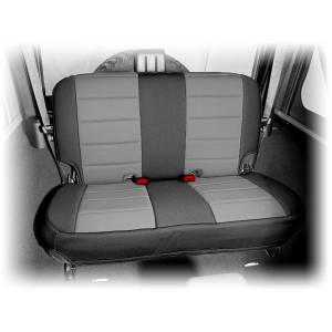 Rugged Ridge - Neoprene Rear Seat Cover, Black/Gray; 07-15 Jeep Wrangler JK