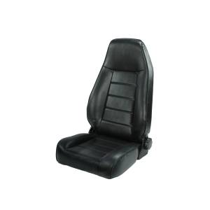 Rugged Ridge - High-Back Front Seat, Reclinable, Black; 76-02 Jeep CJ/Wrangler YJ/TJ