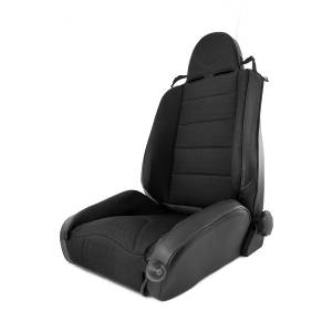Rugged Ridge - RRC Off Road Racing Seat, Reclinable, Black; 84-01 Jeep Cherokee XJ