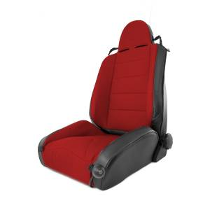 Rugged Ridge - RRC Off Road Racing Seat, Reclinable, Red; 84-01 Jeep Cherokee XJ