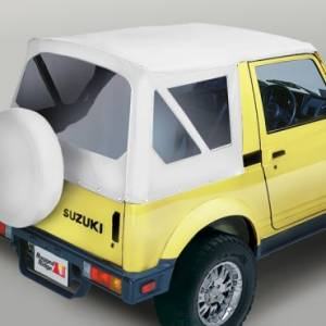 Rugged Ridge - Rugged Ridge XHD Soft Top, White Denim, Clear Windows (1981-98) Suzuki Samurai