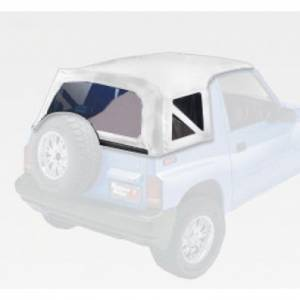 Rugged Ridge - Rugged Ridge XHD Soft Top, White Denim, Clear (1988-94) Suzuki Sidekicks/Geo Trackers