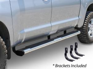 "Go Rhino - Go Rhino 6"" OE Xtreme SideSteps, Ford (1999-15) Super Duty Crew Cab, Stainless Steel Bars with Brackets"