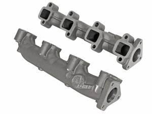 aFe - aFe Exhaust Blade Runner Manifold, Chevy/GMC (2001-16) 6.6L Duramax, Ported Ductile Iron