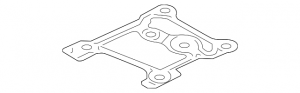 Ford Genuine Parts - Ford Motorcraft Turbo Gasket, Ford (2011-15) F-250, F-350, F-450, & F-550 6.7L Power Stroke (Mounting Gasket)