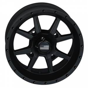 "Frontline Tires - Frontline All Terrain 556, Stealth Flat  Black, UTV Wheels - 14"" wheels, (4/156) 4+3 Offset, +5mm"