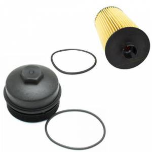 Ford Genuine Parts - Ford Motorcraft FL-2016 Oil Filter and Cap Kit, Ford (2003-10) 6.0L & 6.4L Power Stroke