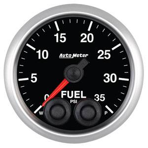 Autometer - Auto Meter Competition Series, Fuel Pressure 35psi w/ Warning