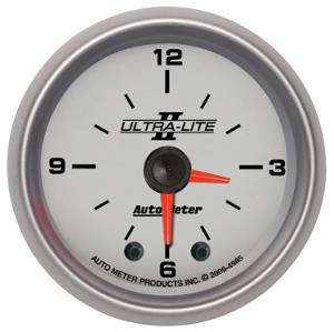 Autometer - Auto Meter Ultra Lite II Series, Clock (Full Sweep Electric)