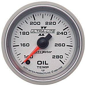 Autometer - Auto Meter Ultra Lite II Series, Oil Temperature 140*-280*F (Full Sweep Electric)