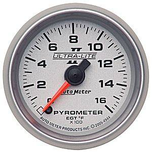 Autometer - Auto Meter Ultra Lite II Series, Pyrometer Kit 0*-1600*F (Full Sweep Electric)