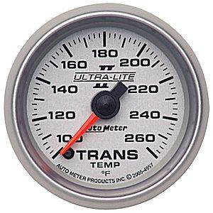 Autometer - Auto Meter Ultra Lite II Series, Transmission Temperature 100*-260*F (Full Sweep Electric)