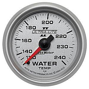 Autometer - Auto Meter Ultra Lite II Series, Water Temperature 120*-240*F (Mechanical)