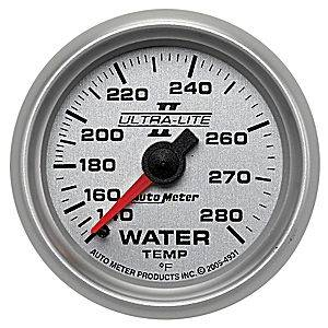 Autometer - Auto Meter Ultra Lite II Series, Water Temperature 140*-280*F (Mechanical)