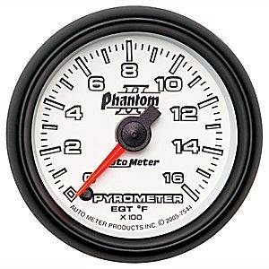 Autometer - Auto Meter Phantom II Series, Pyrometer Kit 0*-1600*F (Full Sweep Electric)