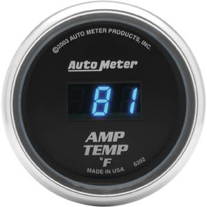Autometer - Auto Meter Cobalt Series, Amplifier Temperature 0*-250*F (Full Sweep Electric)
