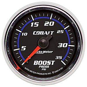 Autometer - Auto Meter Cobalt Series, Boost Pressure 0-35psi (Mechanical)