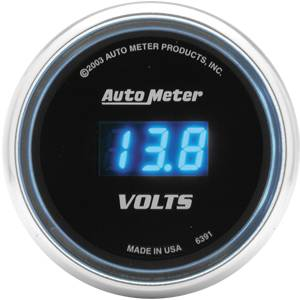 Autometer - Auto Meter Cobalt Series, Voltmeter 8-19volts (Full Sweep Electric)