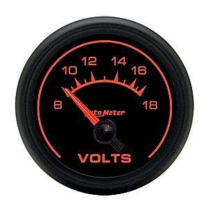 Autometer - Auto Meter ES Series, Voltmeter 8-18volts (Short Sweep Electric)